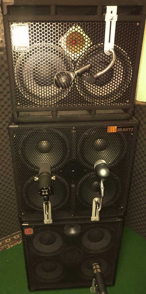 CANTSTANDYA Microphone Mounts used on a bass cabinet